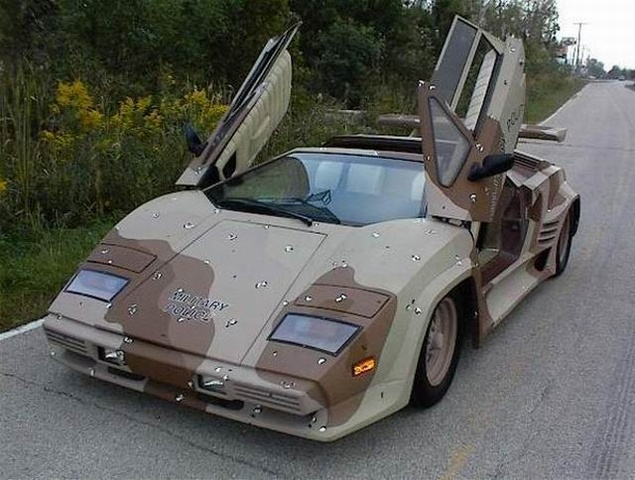 1986 Lamborghini Countach picture - military police, gallery_worthy