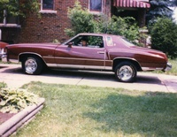 1975 Chevrolet Monte Carlo, 75 Monte owned for twenty years and now it is 65% restored, frame off everything new, will post new pic in future