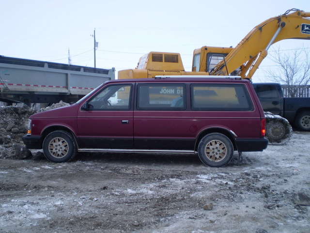 1990 Dodge Grand Caravan 3 Dr LE Passenger Van Extended, At the shop for it's safety
