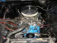 1980 Ford F-150, Ford 302, engine internals stock, edelbrock 600 cfm performance series carb on top.