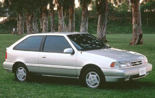 1992 Hyundai Excel - Pictures - 1992 Hyundai Excel 2 Dr GS Hat ...