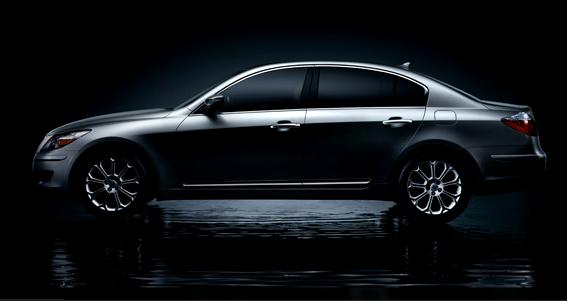 2009 Hyundai Genesis, side view, exterior, manufacturer
