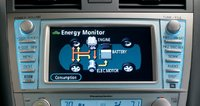 2009 Toyota Camry, hybrid energy monitor, interior, manufacturer