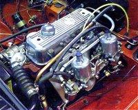 1969 MG MGB Roadster, Motoren under klargøring, engine