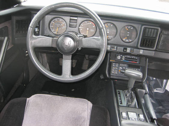 1986 Pontiac Trans Am - Interior Pictures
