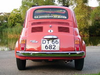 "1971 Fiat 500, Note the ""La passione ci guida"" sticker in the rear window, it's FIAT's old slogan"