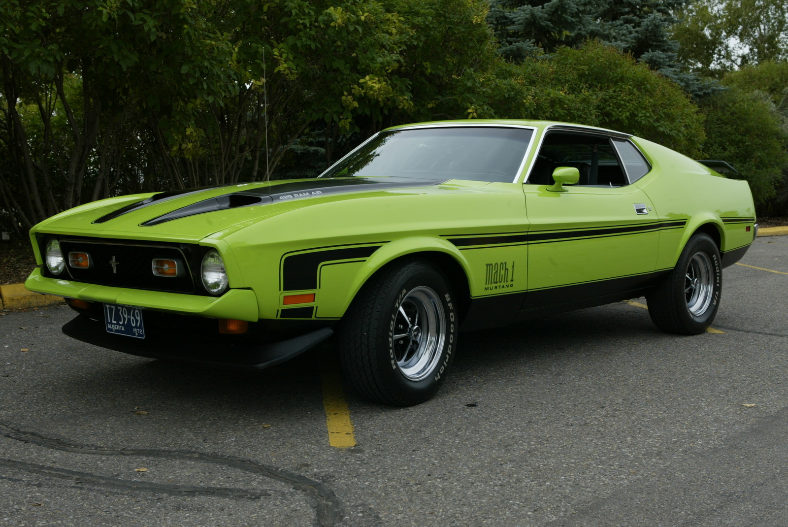 1972 Ford mustang mach 1 specifications