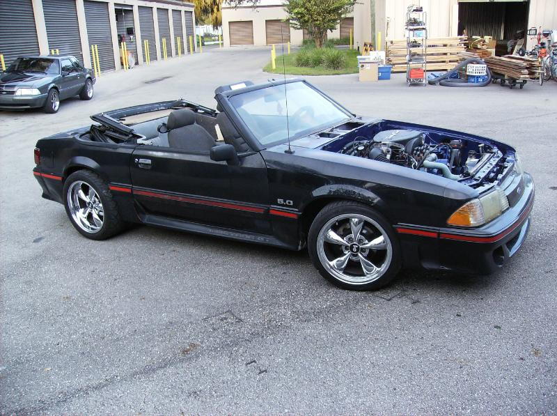 1989 Mustang Convertible Blue