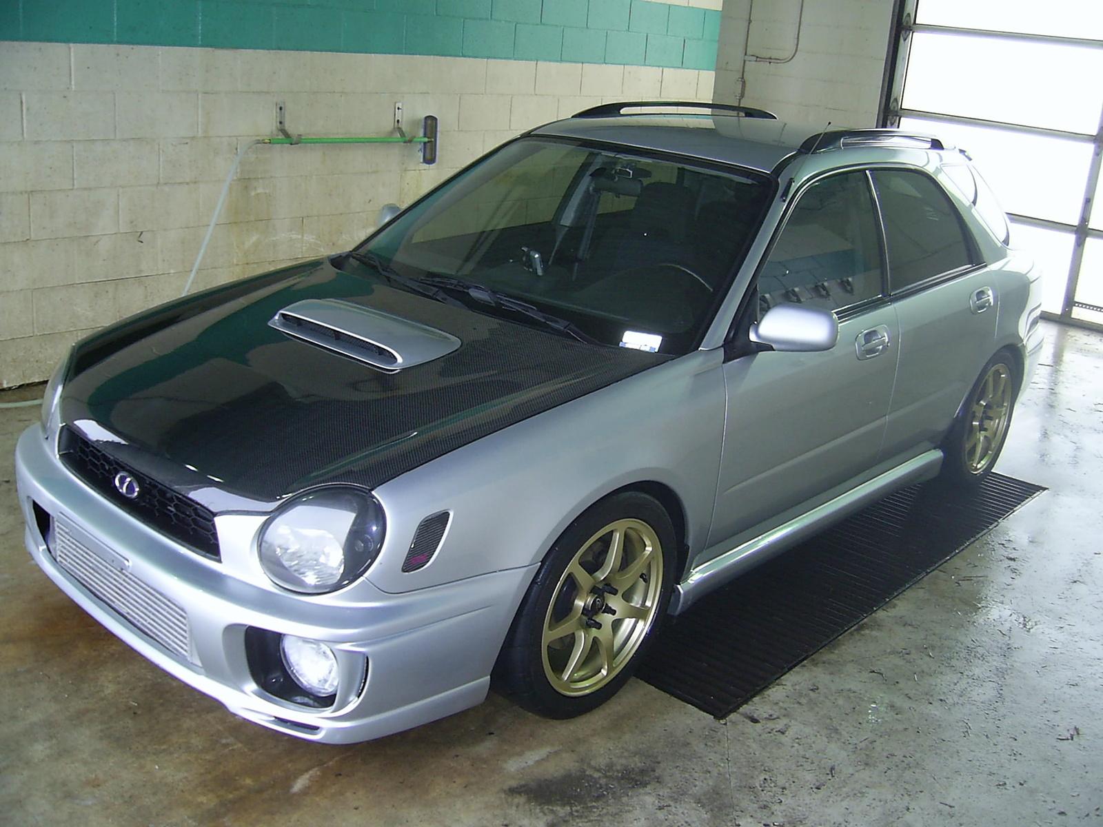 2003 Platinum Silver Metallic Subaru Impreza WRX Wagon ... |2003 Impreza Wrx Wagon Stanced