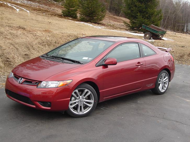 picture of 2007 honda civic coupe si exterior. Black Bedroom Furniture Sets. Home Design Ideas