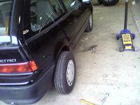 1993 Geo Metro 2 Dr STD Hatchback, deep dish back tires! haha, flipped them and put them on backwards., exterior
