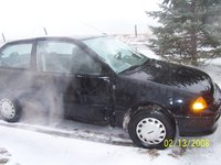 1993 Geo Metro 2 Dr STD Hatchback, after impact. the death of a geo., exterior