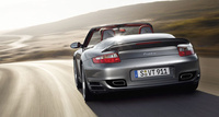 2008 Porsche 911 Turbo AWD Convertible, From the rear, with top down, manufacturer, exterior
