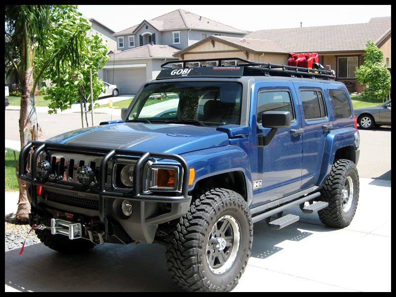 hummer h3 blue images amp pictures   becuo