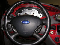 2002 Ford Focus ZX3, more custom painted trim, EL gauge face., interior