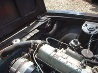 1969 Triumph 2000, Engine bay. 6 cylinders. Twin strombergs, engine