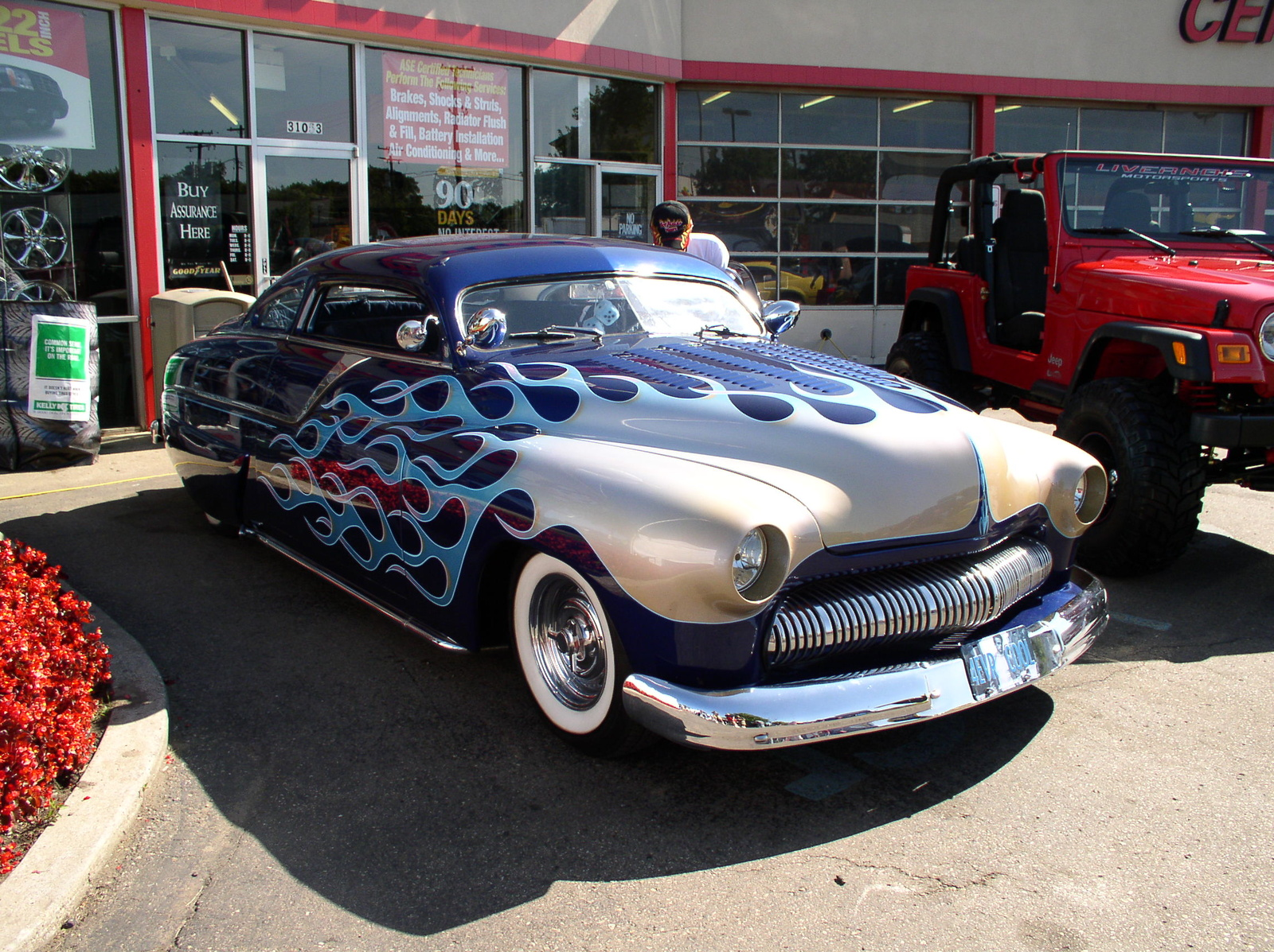 Picture of American model Hudson Hornet hotrod, classic model