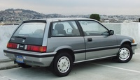 1987 Honda Civic S Hatchback, Mine was dark blue., exterior