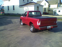 1995 Ford Ranger XL Standard Cab SB, 1995 Ford Ranger XL - Electric Currant Red *taken May 2008 *Mods: Custom Air Intake, Custom Exhaust, Cherry Bomb Turbo Muffler, P225/55/R16 Fuzion HRi tires on 16 ...