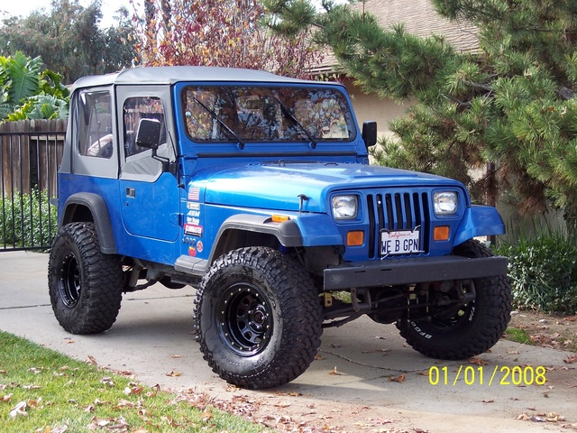 1993 Jeep Wrangler S, Mods - 3.5 Superlift, 33x12.5x15 BFG Mud Terrains, Series 152 wheels, Detroit Locker rear, Detroit True-trac front, 4.88 gears (front & rear), Flowmaster 40 Series Delta Flow, Hi...