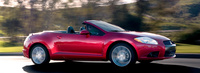 2009 Mitsubishi Eclipse Spyder, side view, exterior, manufacturer