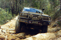 1989 Nissan Patrol attempting the Porters Rd Fire Track, exterior, gallery_worthy