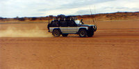 1989 Nissan Patrol crossing a South Australian desert in 1995, exterior