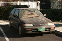 1989 Honda Civic CRX Si, Taken right after the car was dropped off by the transporter. It's filthy here., exterior