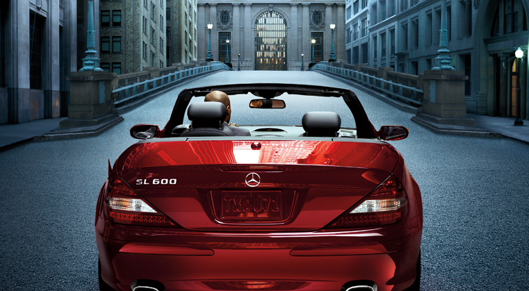 2009 Mercedes-Benz SL-Class, Back View, manufacturer, exterior