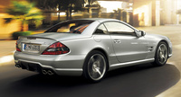 2009 Mercedes-Benz SL-Class, Back Right Quarter View, manufacturer, exterior