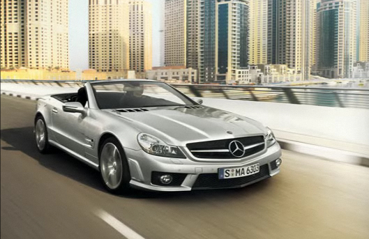 2009 Mercedes-Benz SL-Class, Front Right Quarter View, manufacturer, exterior