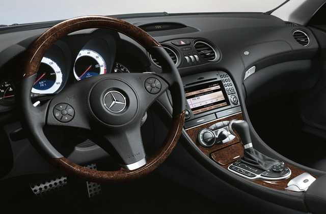2009 Mercedes-Benz SL-Class, Front Interior Dash View, interior, manufacturer