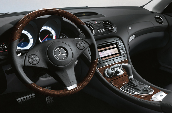 2009 Mercedes-Benz SL-Class, Front Interior Dash View, interior, manufacturer