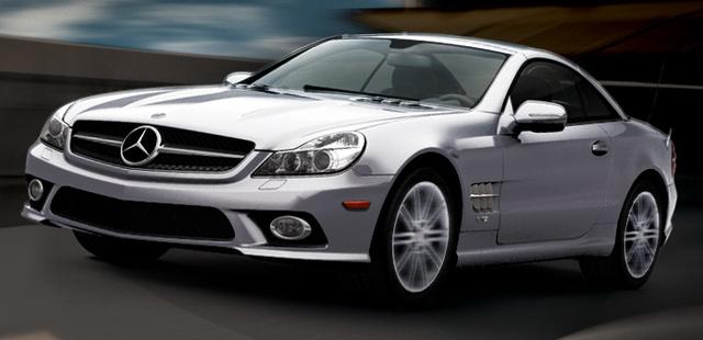 2009 Mercedes-Benz SL-Class, Left Front Quarter View, exterior, manufacturer