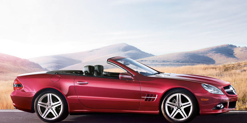 2009 Mercedes-Benz SL-Class, Right Side View, manufacturer, exterior