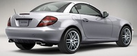 2009 Mercedes-Benz SLK-Class, SLK 300 Back Right Quarter View, manufacturer, exterior