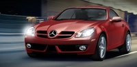 2009 Mercedes-Benz SLK-Class, SLK 300 Front Right Quarter View, manufacturer, exterior