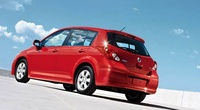 2009 Nissan Versa, Hatchback Back Left Quarter View, manufacturer, exterior
