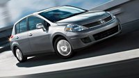 2009 Nissan Versa, Hatchback Front Right Quarter View, exterior, manufacturer