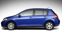 2009 Nissan Versa, Hatchback Left Side View, exterior, manufacturer