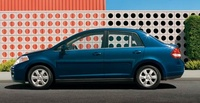 2009 Nissan Versa, Sedan Left Side View, manufacturer, exterior