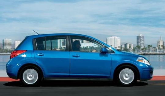 2009 Nissan Versa, Hatchback Right Side View, exterior, manufacturer