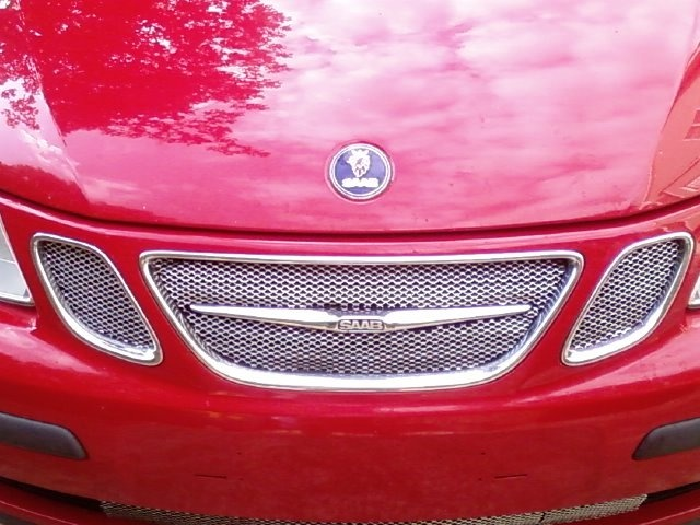 2003 Saab 9-3 Linear, Custom Mesh Grille---Homemade with Gutter Guards, exterior, gallery_worthy