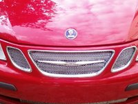 2003 Saab 9-3 Linear, Custom Mesh Grille---Homemade with Gutter Guards, exterior