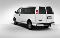 2009 Chevrolet Express, Back Left Quarter View, manufacturer, exterior
