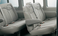 2009 Chevrolet Express, Interior Back Seat Side View, manufacturer, interior