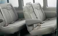2009 Chevrolet Express, Interior Back Seat Side View, interior, manufacturer