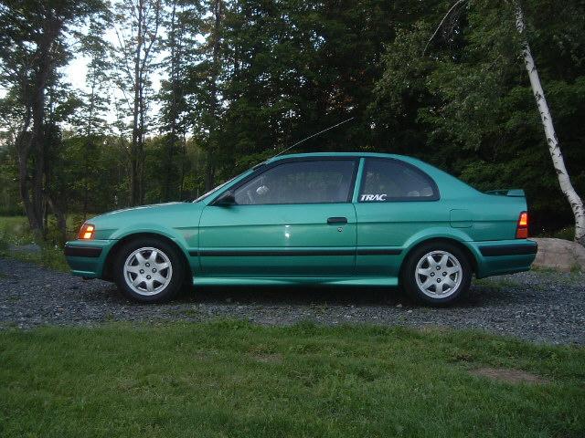 1996 Toyota Tercel 2 Dr STD Coupe, Trou Vert Sport! :), exterior