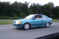 1996 Toyota Tercel 2 Dr STD Coupe, En route vers Kingston, rassemblement MR2 2008 avec Camy Boucher-Aubut et Martin Vincent, exterior