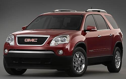2009 GMC Acadia, Front Left Quarter View, interior, manufacturer